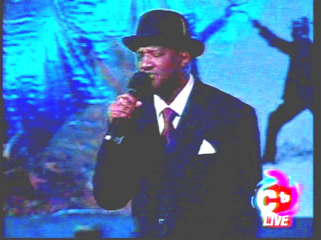The Pink Panther the top calypsonian for /Carnival 2013, Mr. Eric Taylor