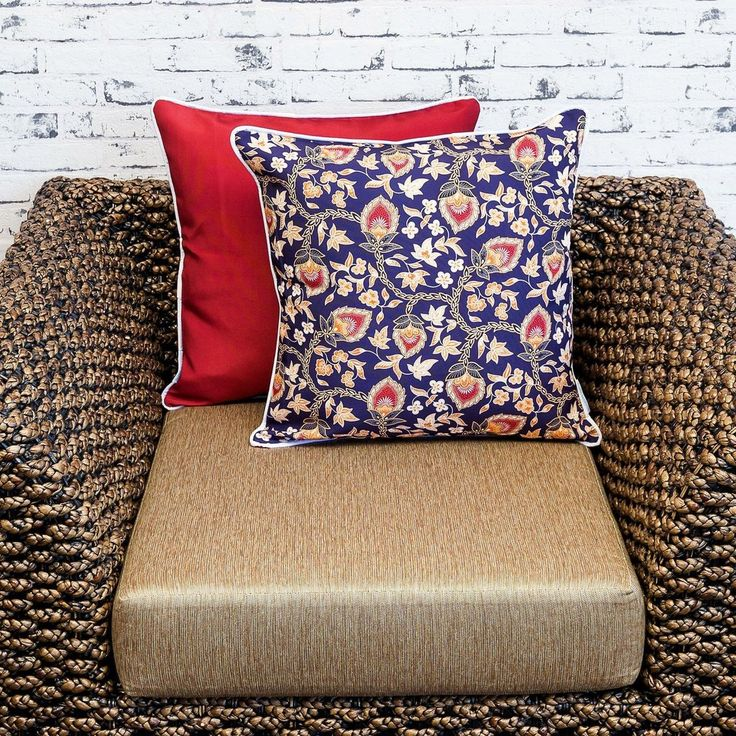 """Tact. Our flip cushion cover range was designed to cater to customers wanting a plain cover to contrast our patterns. The plain colour is chosen to best compliment the printed pattern. Purchase a single cover for impact or purchase multiple covers and """"Flip"""" them back and front. This cushion cover is part of our """"Flip Range"""" which means this design has been printed in low quantities. #sunburstoutdoorliving #cushions #Kombi #cushioncovers #myhousebeautiful"""