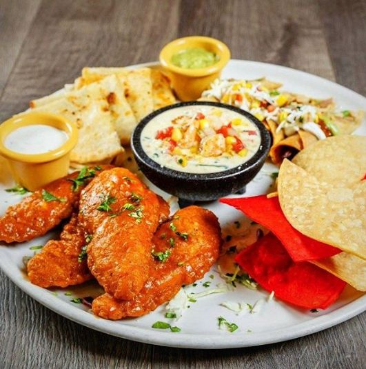 Appetizer plate at Acapulco Restaurant