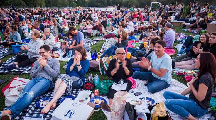 The New York Philharmonic perform a concert in the park in