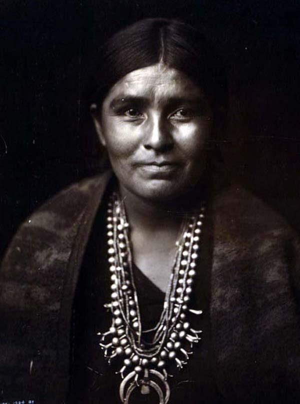 Above we show a moving photo of Navaho Woman. It was made in 1904 by Edward S. Curtis.    The illustration documents Head-and-shoulders portrait of a Navajo woman, facing front.    We have compiled this collection of artwork mainly to serve as a vital educational resource. Contact curator@old-picture.com.    Image ID# 95070512