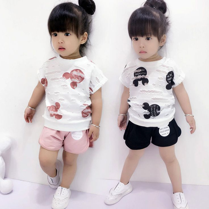$8.75 (Buy here: https://alitems.com/g/1e8d114494ebda23ff8b16525dc3e8/?i=5&ulp=https%3A%2F%2Fwww.aliexpress.com%2Fitem%2F2PC-Summer-Girls-Cartoon-Outfits-Baby-Short-Sleeve-T-shirt-shorts-Kids-Clothing-Set-Children-Hole%2F32784221310.html ) 2PC Summer Girls Cartoon Outfits Baby Short Sleeve T-shirt + shorts  Kids Clothing Set Children Hole Tops Tee for just $8.75
