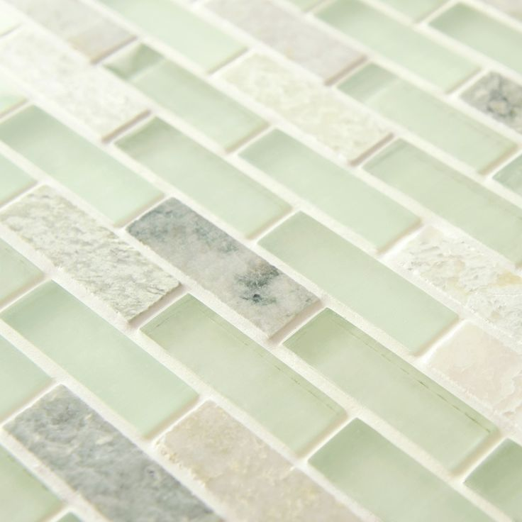 SomerTile 12x12-in Reflections Subway 5/8x2-in Ming Glass/Stone Mosaic Tile (Pack of 10) | Overstock™ Shopping - Big Discounts on Somertile Wall Tiles