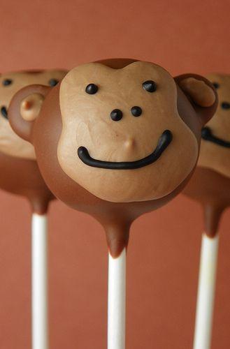 Monkey Cake Pops | The Cake Poppery | Flickr