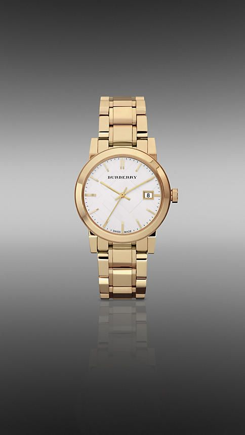 Classy simple golden small watch |The City BU9103 34mm | Burberry