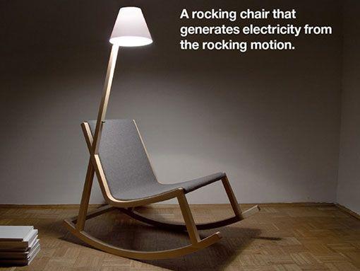 创意OLED灯摇椅设计