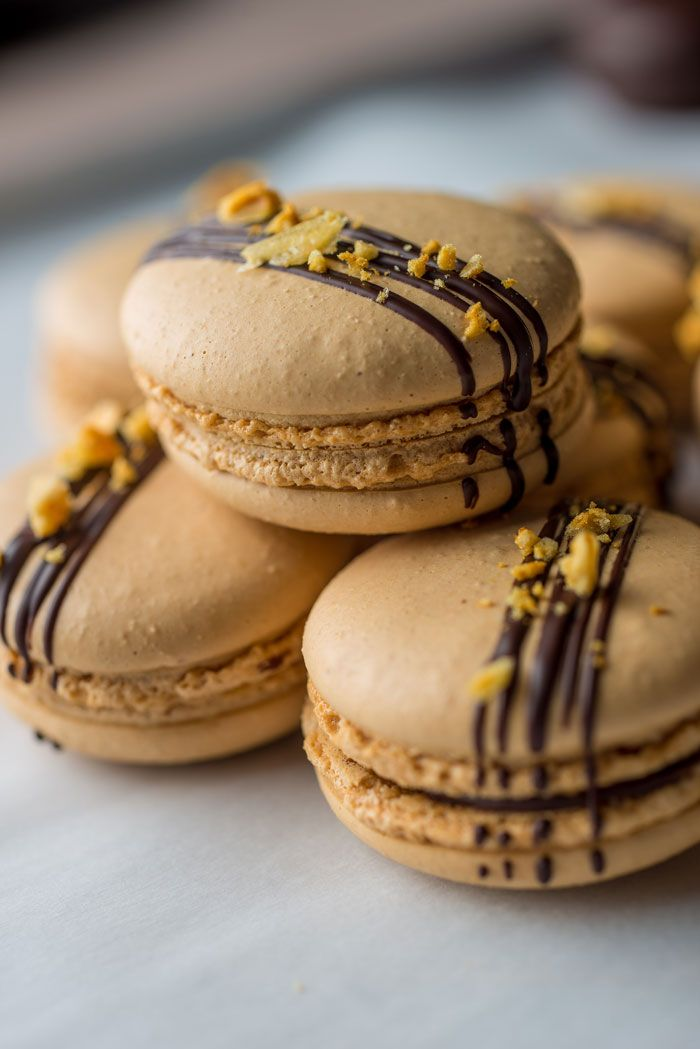 Crunchie macarons by Graham Hornigold