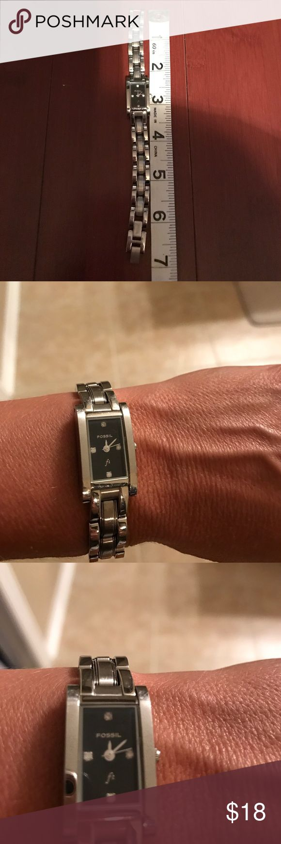 Fossil watch Fossil watch. Battery needed. Would fit wrist 8 inches or smaller. Fossil Accessories Watches