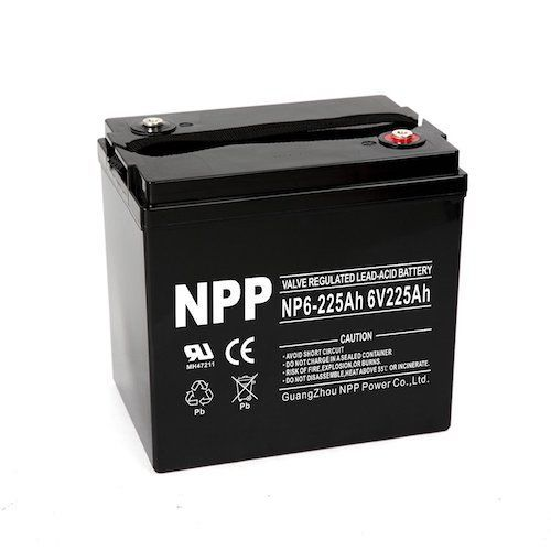 1  NPP 6V 225 Amp NP6 225Ah AGM Deep Cycle Battery Camper