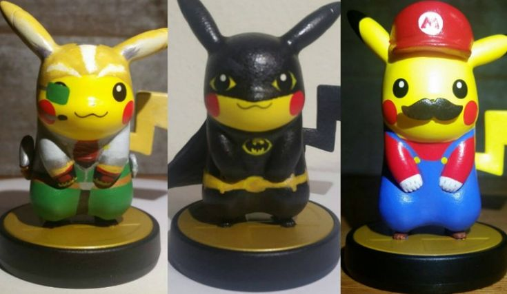 Save Hyrule, Gotham, And More With These Custom Pikachu amiibo