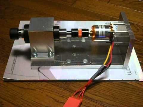 自作 CNC フライス盤 ブラシレスモーター スピンドル - YouTube