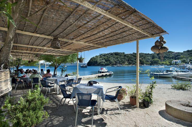 Lovely beach cafes in San Stefanos Beach http://www.villaplus.com/corfu/villas/agios-stefanos