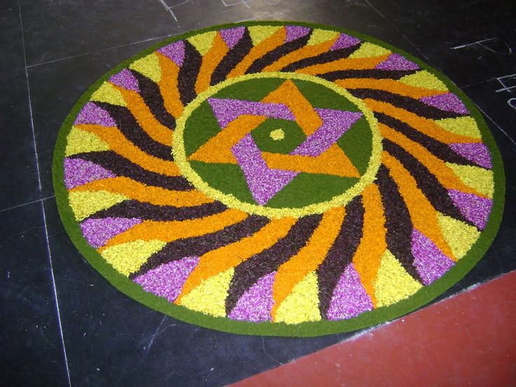 We have picked some colourful flower rangoli designs for you. Make these creative, simple flower rangoli designs on festivals like Diwali and Onam.