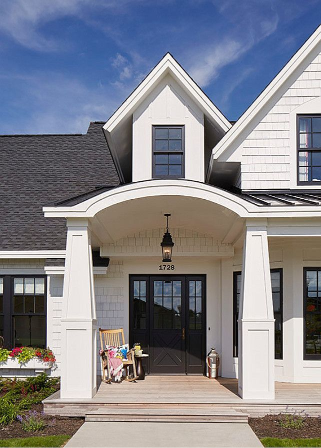 Dark Gray Colonial House Exterior