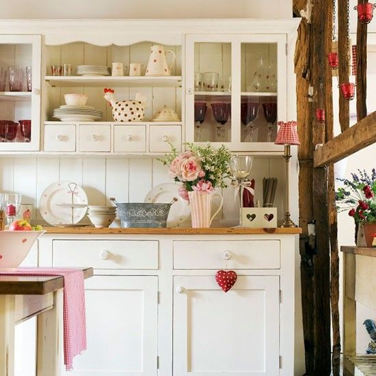 Pretty country kitchen with dresser
