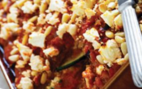 Eggplant, Zucchini & Basil Ricotta Parmigiana is a recipe that's full of traditional Mediterranean flavours to tantalise the tastebuds. Gluten free, high in fibre and a source of calcium, the whole family will love the tender eggplant, smooth ricotta and crunchy pine nuts, a nutritious meal everyone can enjoy.