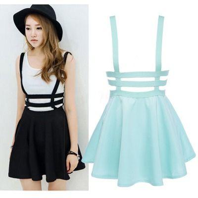 Falda tirantes/suspender skirt wh065                                                                                                                                                                                 Más