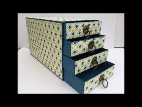 Re-enforced Stampin Up Chest of Drawers Gift Box or Filing Box Gorgeous...