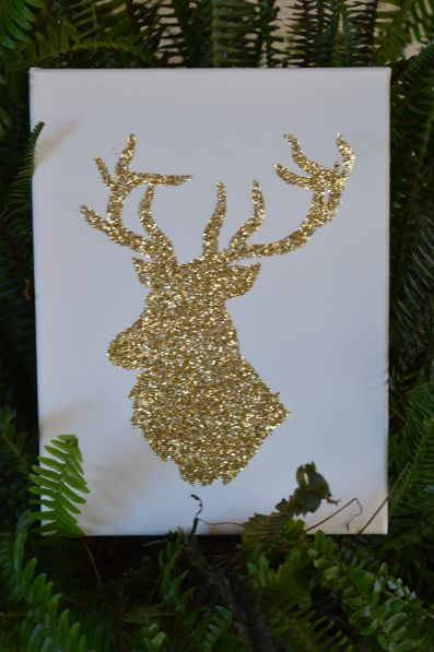 glittery reindeer