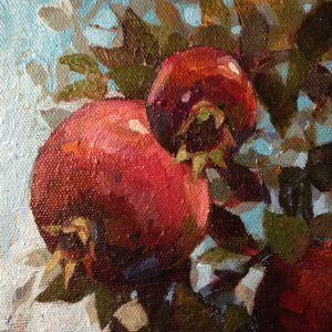 Pomegranates painting by Alexandra Kruglyak