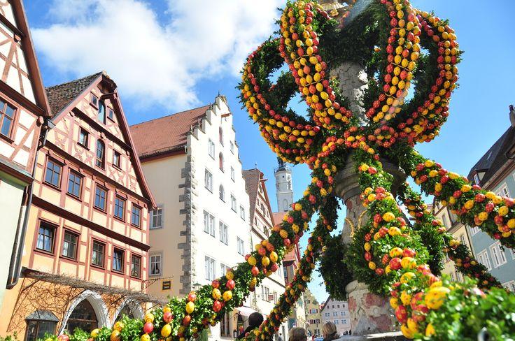 Rothenburg ob der Tauber during Easter