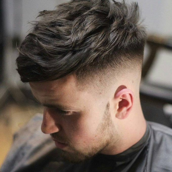 Regular fade with textured medium top