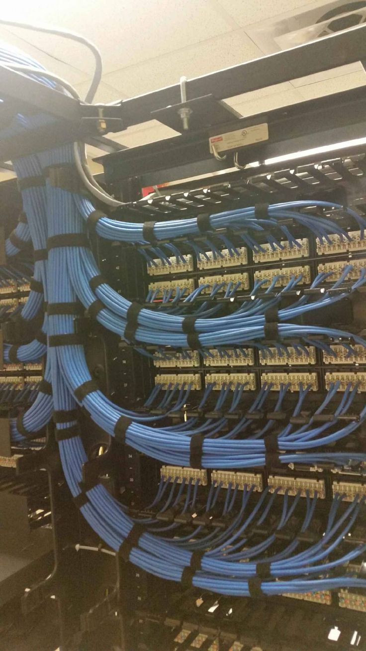 Great job on his cable management. Nice even runs into the back of the patch panel with velcro ties