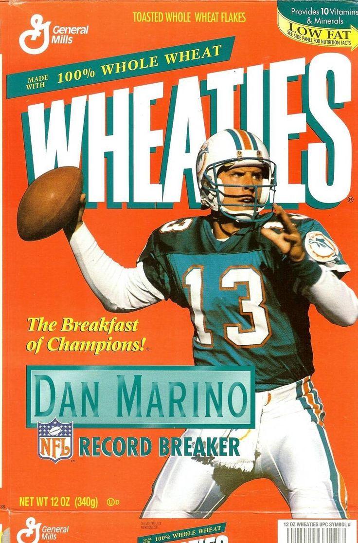 Dan Marino Wheaties Cereal Box Miami Dolphins Nfl Football Record Breaker