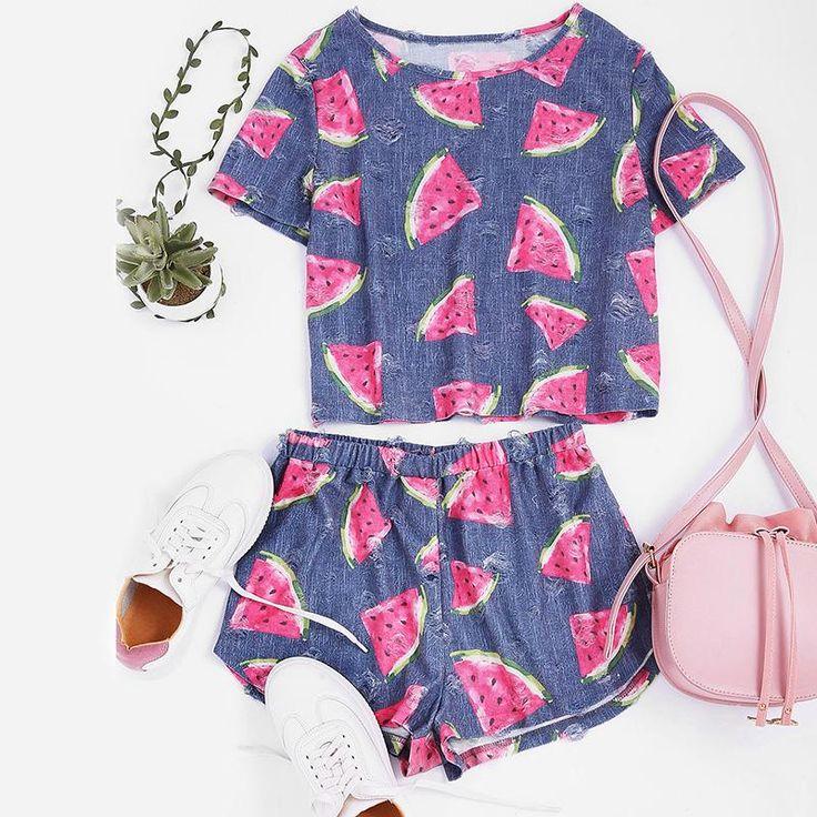 Ensemble de vêtements de nuit pour dames d'été