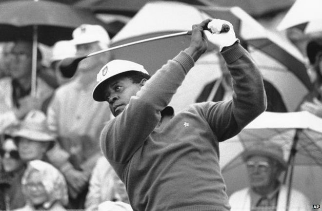 The man who defied death threats to play at the Masters - BBC News