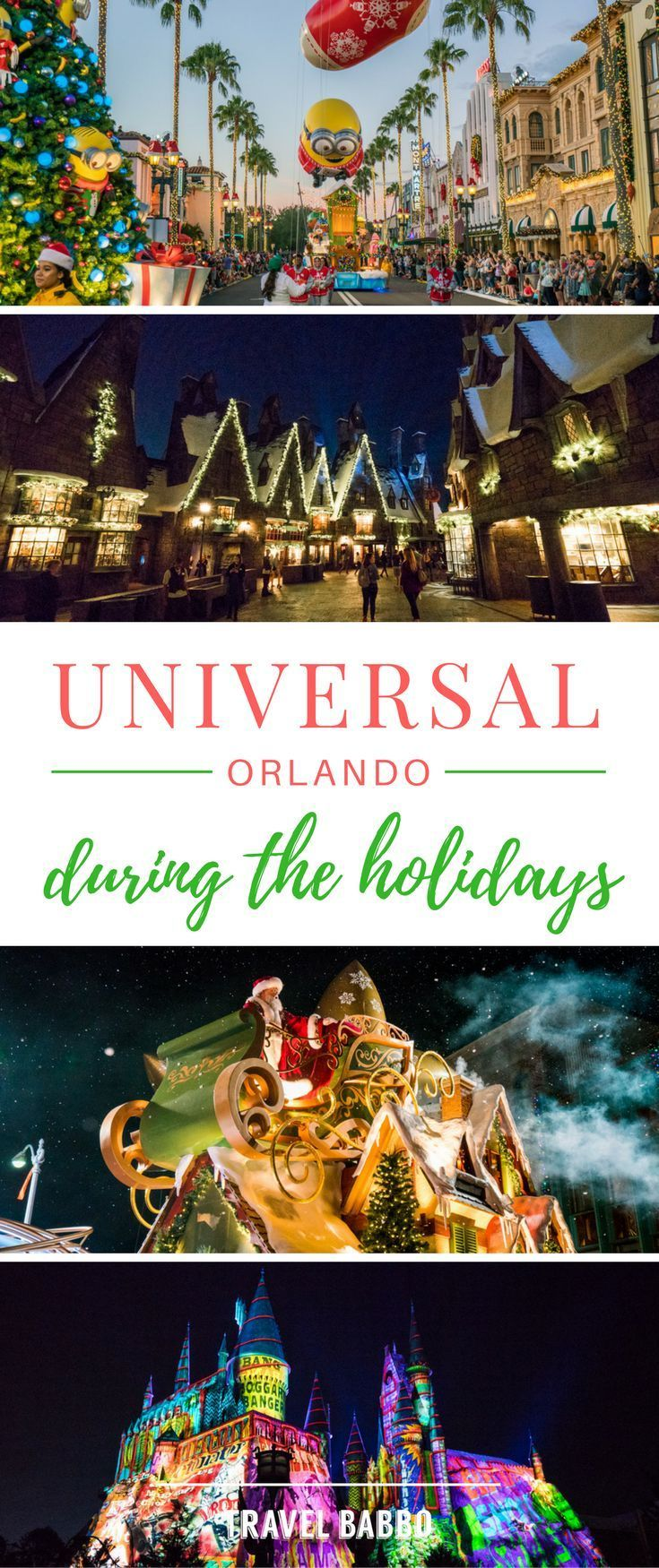 Universal Orlando During the Holidays- If you are #planning a trip to Universal in Orlando, #Florida, #withkids, you may want to consider going during the holiday season! Special character breakfasts, light shows and beautiful decorations everywhere are just a few reasons why we love Universal at Christmas! Check out the rest of my #tips on why Universal is so magical during the #holidays!