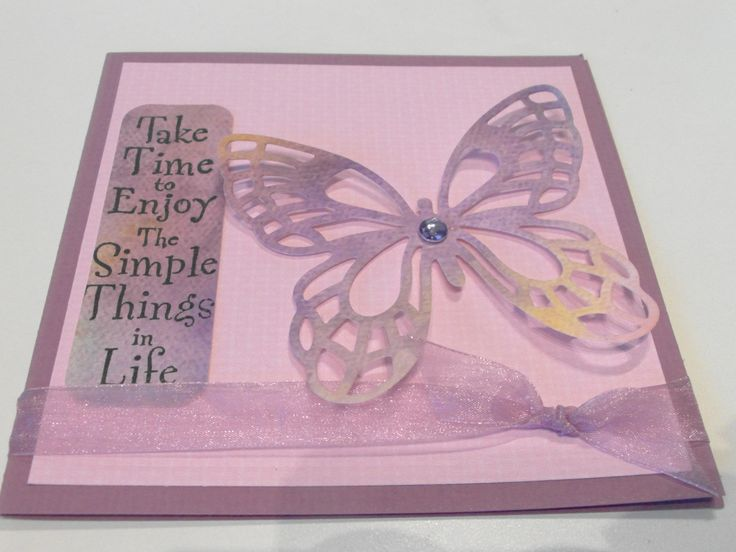 Had so much fun playing with watercolor paper and alcohol inks.  Then die-cut butterflies to create some fun cards...