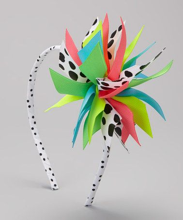 Take a look at this Neon Swiss Dot Surprise Headband by Picture Perfect Hair Bows on #zulily today!