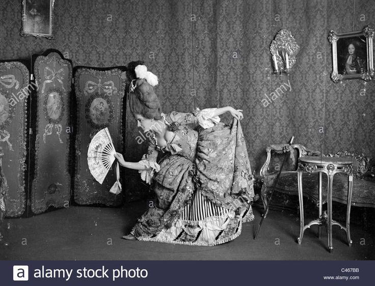 Gertrude Barrison in a rococo dress.