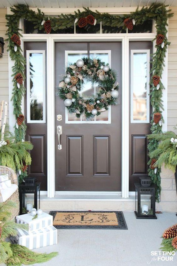 Mejores 19 im genes de ideas diy para decorar la puerta for Ideas para decorar la puerta en navidad