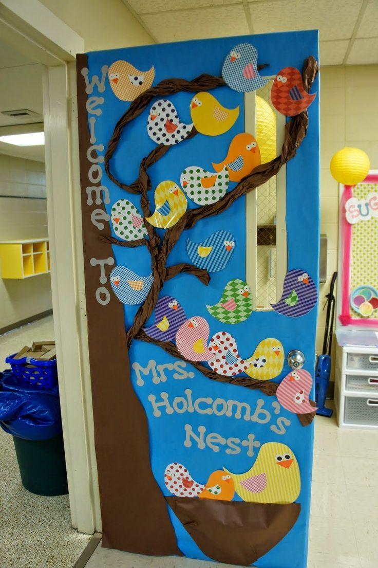 Resultado de imagem para decoração de porta de sala de aula girafa