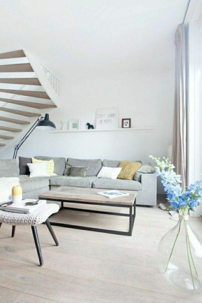 deco nordique avec meubles scandinaves, sol en parquet clair