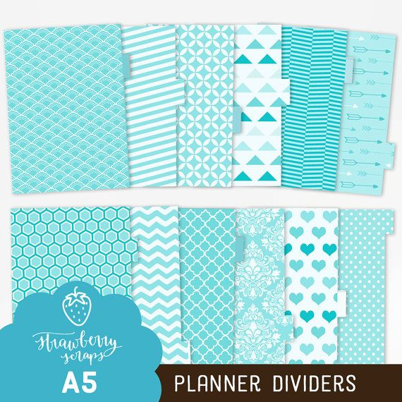 A5 planner dividers: