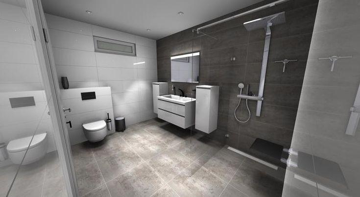 (@ Middelkoop Culemborg / badkamers) Modern is het woord voor deze badkamer. De hoogglans witte tegels van Venis zijn net spiegels, zo vlak en helder is uniek. De kranen van Grohe uit de Ondus serie geven het een uitstraling waarmee deze badkamer zich onderscheid van andere. Ook is de nodige luxe aangebracht. Denk aan het geweldige producten van Geberit. De Aquaclean 8000 plus. Compleet uitgevoerd met een elektronische bedieningsplaat.  Voor meer badkamer ideeën zie onze website.