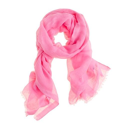 Love pink scarves