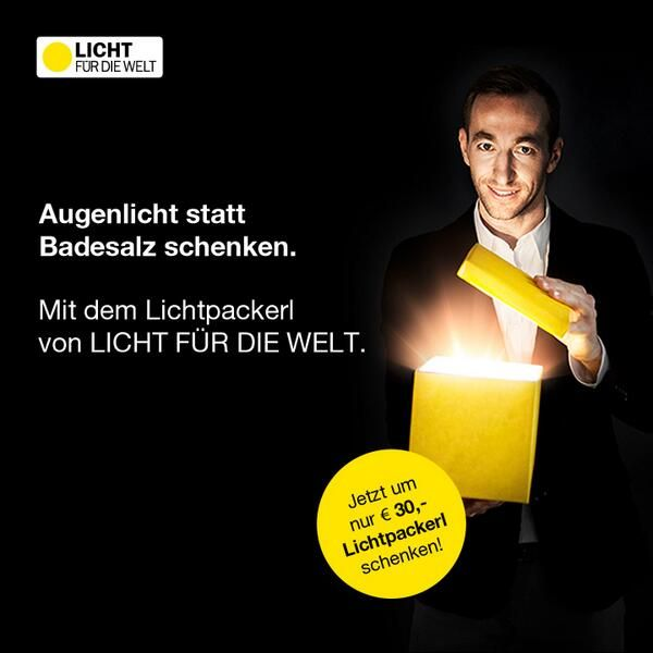 #Lichtpackerl: Unsere #Weihnachtskampagne #2013. Hier mit Manuel #Ortlechner,