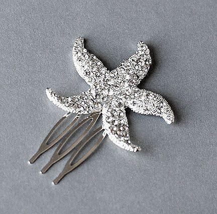 Rhinestone Bridal Hair Comb Beach Wedding Jewelry by LXdesigns, $19.00