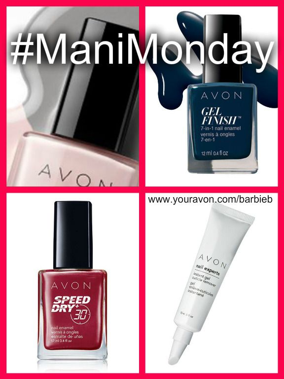 #ManiMonday Avon Nail Enamel - Speed-Dry, 7-in-1 Gel-Finish, Cuticle Remover, top coats and more... Shop Avon Nail Enamel at   https://barbieb.avonrepresentative.com  #avon #nails #nailenamel #manimonday #speeddry #gelfinish #cuticleremover #nailpolish #makeup
