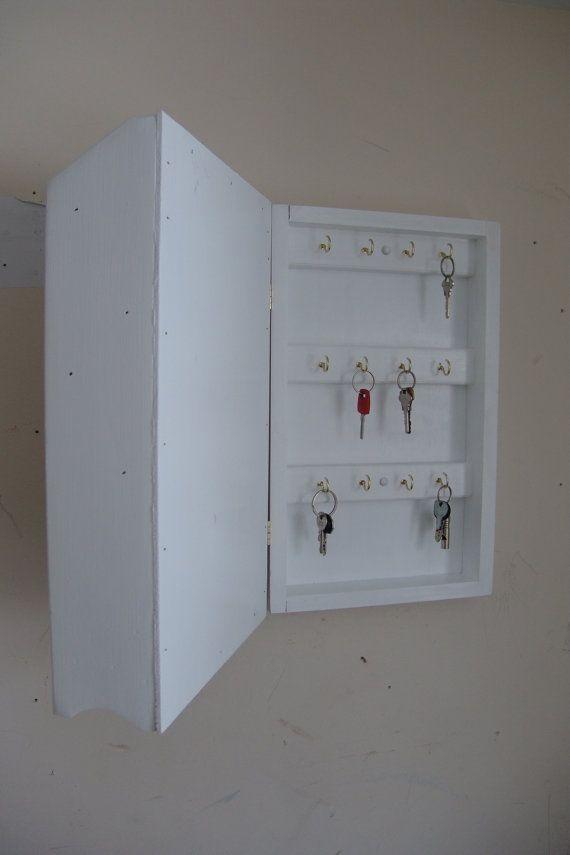 18 h hidden key box mail organizer handcrafted wooden wall rh pinterest ca