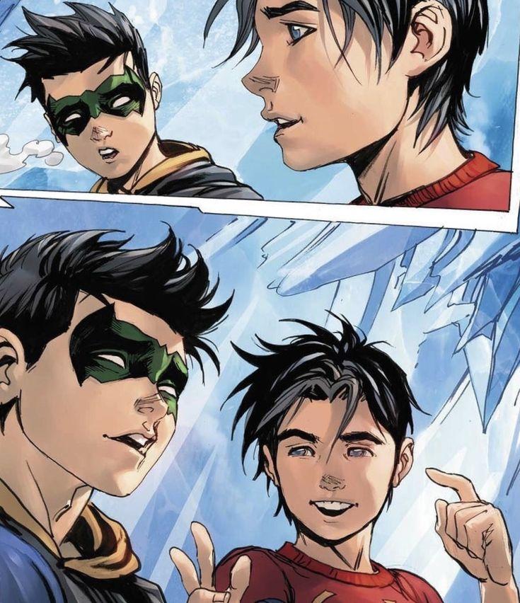 SUPER SONS. Robin. Damian Wayne. Jonathan Kent. Superboy.