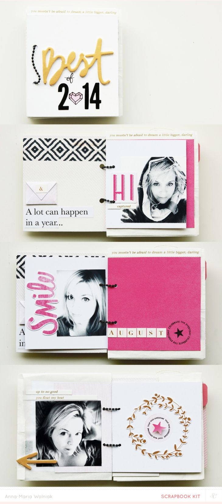 selfie mini album by Anna-Maria made with 'Cirque' @studio_calico kits