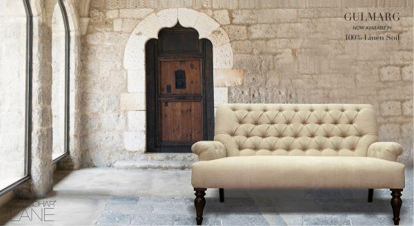 Indigo Tufted Sofa