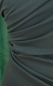 Deep teal green ponte roma jersey fabric