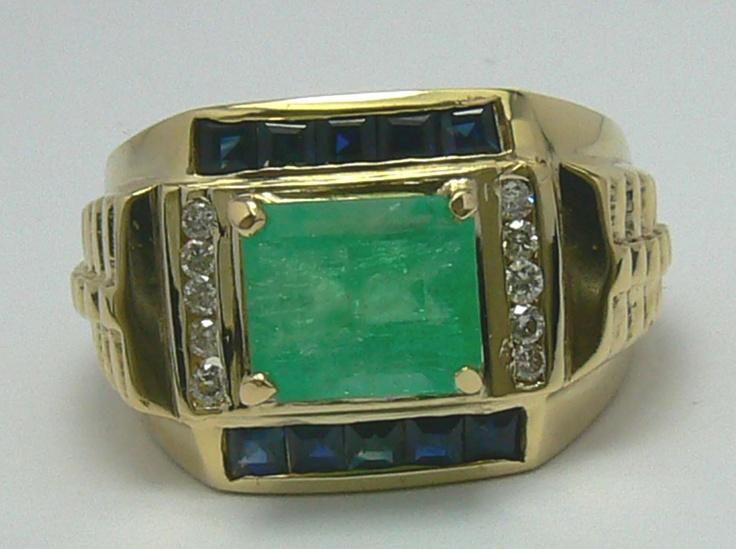 Mens Emerald Ring Bing Images Mens Emerald Rings Mens Pinky Ring Gold Silver Rings
