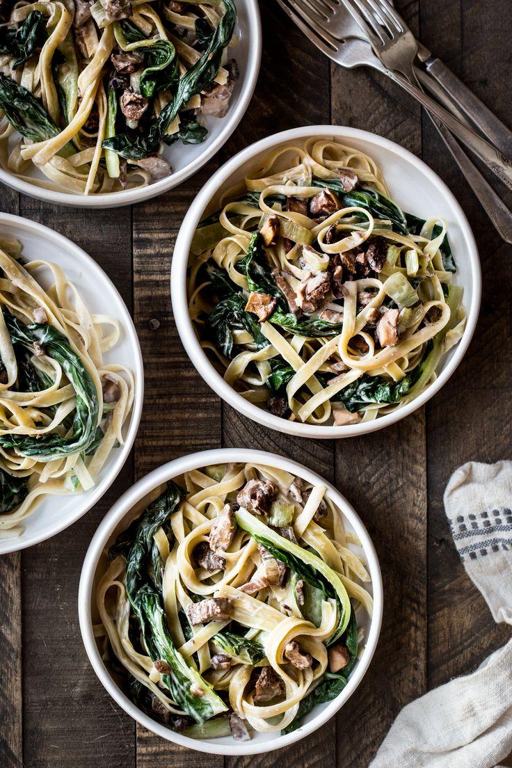 Wild Mushroom & Bok Choy Pasta